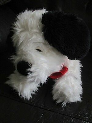 101 DALMATIONS fluffy Lucky large beanie bean plush soft toy VGC Disney Store #1
