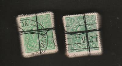 COLLECTION KGV 1/ 2d GREEN X 200 IN BUNDLES 100 X 2 USED PRE DECIMAL AUSTRALIA