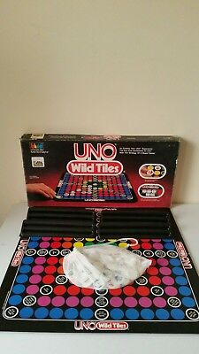 1984 UNO Wild Tiles Board Game