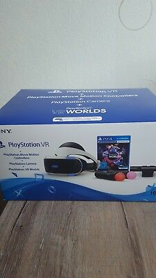 PS4 VR Set inkl. 2 PS Move Motion Controllers, PS Camera, WORLDS und SKYRIM