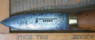 Joseph Rodgers and Sons antique vintage Sheffield England oyster shucking knife