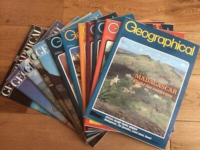 The Geographical Magazine January - December 1984-Full set good condition