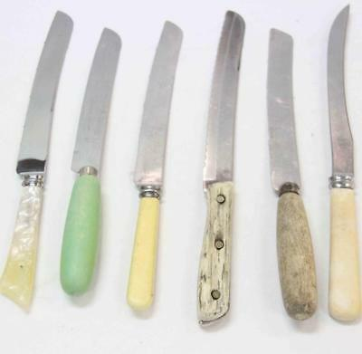 6 Carving Knives Sheffield, Walker & Hall, Gravera, Duracut vintage #15267