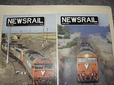 newsrail magazines x2 issues may 98 june 98