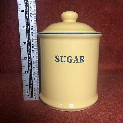Vintage Yellow Sugar Bowl with Lid
