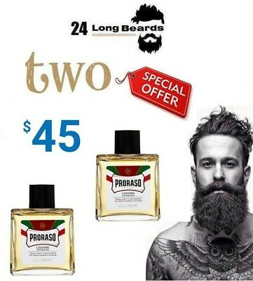 Proraso Sandalwood After Shave Lotion (Two For $45)