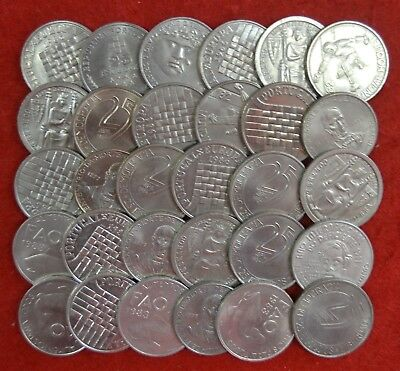 Portugal / Lot of 30  coins UNC of   25$00  commemorative  Lote Nº 50