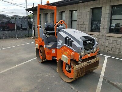 2014 Hamm HD12VV Articulated Double Drum Vibrating Roller, Roll Bar, 584 Hours