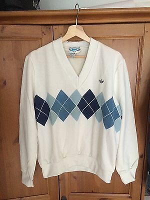 adidas vintage Ivan Lendl Pullover M 70s 80s old school no retro Sweater Tennis