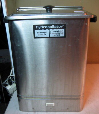Chattanooga E-1 Hydrocollator Hot Pack Heater Heating Unit Steam Rack
