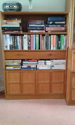 Bookcase with 2 cupboards and 1 drawer - Nathan Furniture