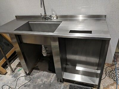 Large Stainless Steel Commercial Sink