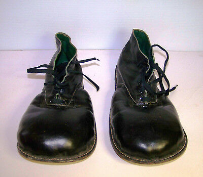 Vintage  Leather Black  Clown Shoes Free Shipping Look!!!