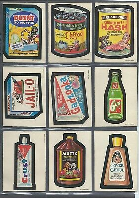 Wacky Packages 1973 Opc 1St Series Complete Set Wb Nm Rare