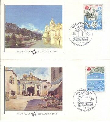 Monaco - Special Events, People & Anniversaries (5no. PO/Other FDC's) 1982-88