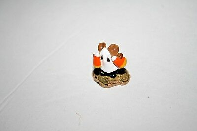 Wee Forest Folk 300 THE CANDY CORN KID Mice Mouse miniature GHOST Halloween