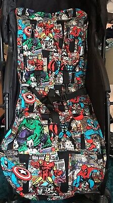 Handmade/ Individually made Buggy liner/insert set Marvel Superhero comic fronts