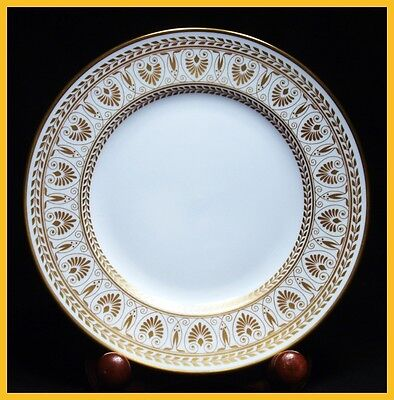 6 x Crown Staffordshire Gold Victoria 8 1/4 Inch Salad Plates - 1st Quality New