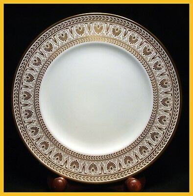 Crown Staffordshire Gold Victoria 9 1/4 Inch Luncheon Plates - 1st Quality New