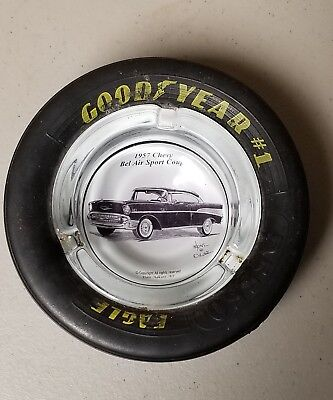 Vintage GOODYEAR EAGLE D5550 Tire Ashtray - 1957 Chevy Bel Air by Dale Adkins