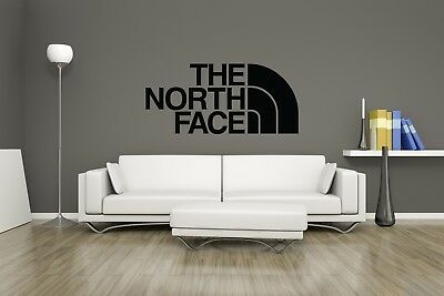 Huge The North Face Vinyl Decal Wall Art / Man Cave