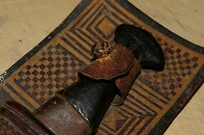 A Manding tool, Impliment with leather sheath.