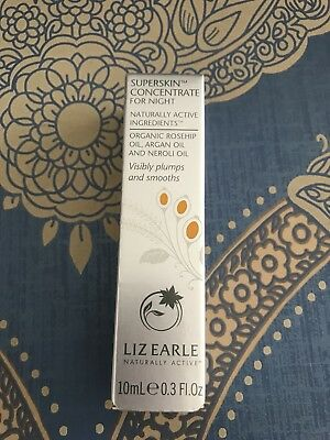 Liz Earle Superskin Concentrate For Night 10ml Brand New In Box