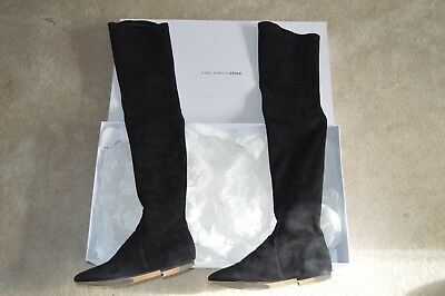 78f358eb9ea ISABEL MARANT ETOILE Black Suede Brenna Over The Knee Boots Womens EU 37 UK  4 -  525.02