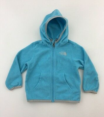41cdbefa8 THE NORTH FACE Baby fleece jacket hooded zip-up Blue 12-18 months ...