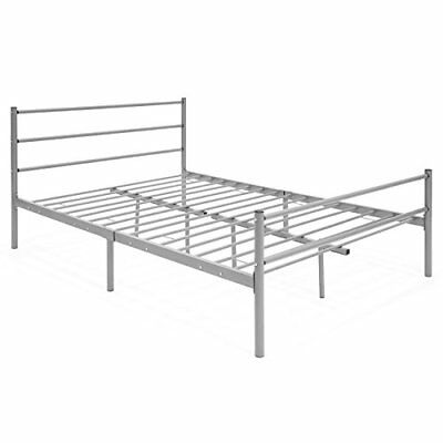 Best Choice Products Full Size Metal Bed Frame Platform w/Headboard & Center ...