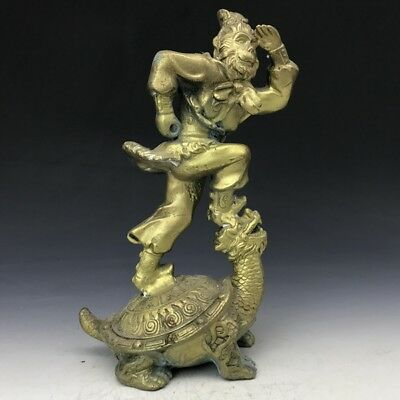 collect China Ancient Sun WuKong the copper statue(Blemish).  w67