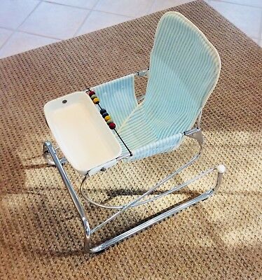 Vintage 1970's Chrome Hamilton Cosco Baby Jumper Bouncer Feeding Chair Seat EUC