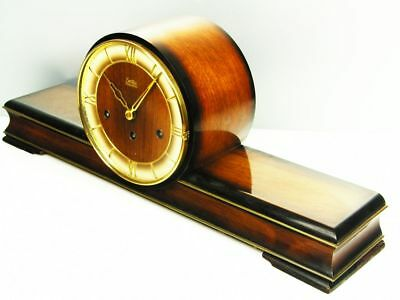 Pure Art Deco Westminster Chiming Mantel Clock From  Zentra Hermle Germany