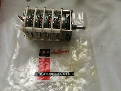 Vtg Shall Cross Industrial Rotary Switch 2H00A13-5X3302-CUTLER HAMMER