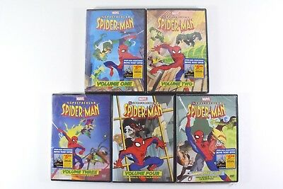 The Spectacular Spider-Man: Volumes 1-5 DVD Marvel Animated Series - 4/5 Sealed