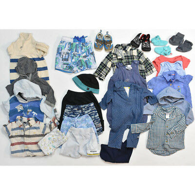 23 PIECE Baby Toddler BOYS 3 – 6 Months Clothing Lot Clothes + Shoes