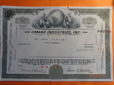 Historische Aktie USA OMARK INDUSTRIES; INC.