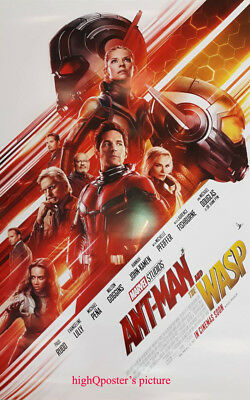 Original ANT-MAN 2 and THE WASP DS 27x40 movie POSTER double sided Avengers FLAW