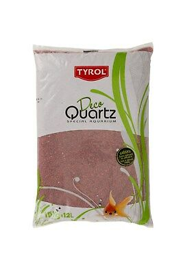 Quartz gravier rouge provence décoration d'aquarium 15 kg