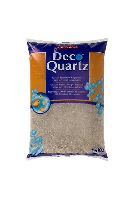 Quartz gravier beige décoration d'aquarium 15 kg