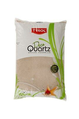 Quartz gravier rose décoration d'aquarium 15 kg