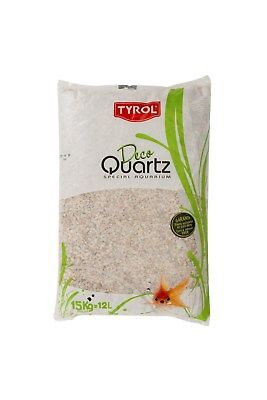 Quartz gravier blanc décoration d'aquarium 15 kg