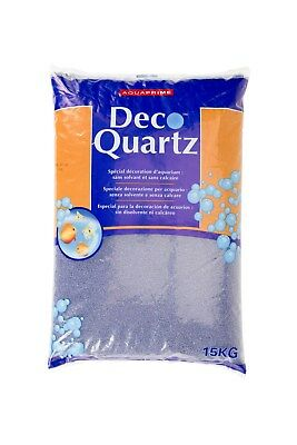 Quartz gravier lavande décoration d'aquarium 15 kg