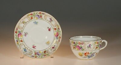"Hammersley ""Dresden Sprays"" Cup and Saucer, England"
