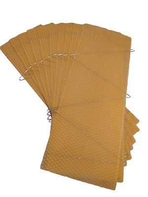 30 - Wired Super - Wax Foundation Sheets - National - Beekeeping Supplies UK