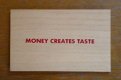 JENNY HOLZER, Money Creates Taste, Multiple 1994