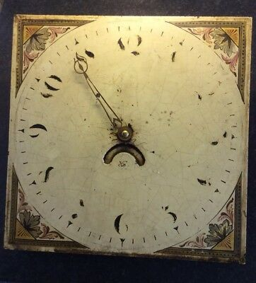Antique 30 hour Long Case Clock movement and dial