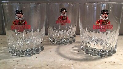 3 - BEEFEATER London Dry Gin Highball/Cocktail Glasses