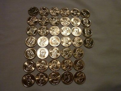 Presidential Dollar Complete P & D BU Set From Mint Rolls - 78 Coins