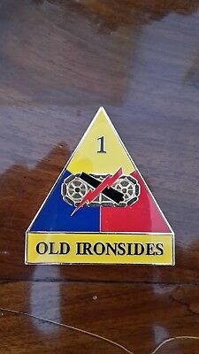 Challenge Coin, U.S. Army 1st Armored Division, Old Ironsides, Iron Soldier!